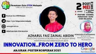 INNOVATION..FROM ZERO TO HERO ( Bersama MENTOR INOVASI KEBANGSAAN TAHUN 2019)