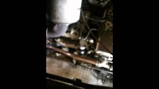 Démarrage moteur caterpillar