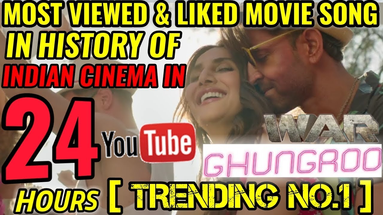 WAR | GHUNGROO SONG BREAKS ALL RECORDS BECOMES MOST VIEWED & LIKED SONG IN 24 HOURS | HRITHIK RO