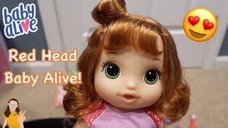 Baby Alive Potty Dance Baby Box Opening! RED HEAD BABY ALIVE! | Kelli Maple
