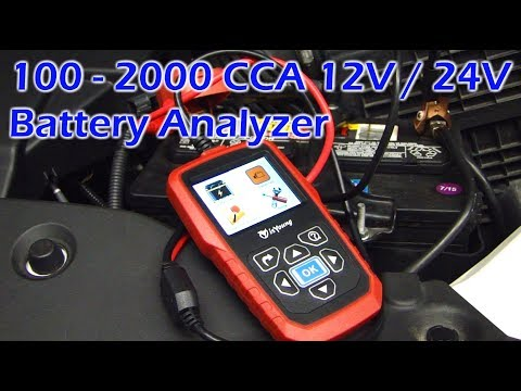 100-2000 CCA 12V / 24V Battery Analzyer - isYoung GC-4217