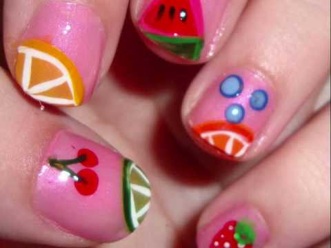 Summer fruit nail design youtube summer fruit nail design prinsesfo Images