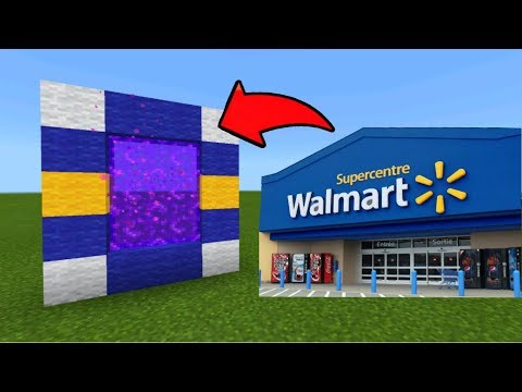 Minecraft Pe How To Make a Portal To The Walmart Dimension - Mcpe ...