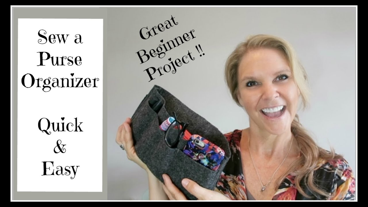 Sew an easy diy purse organizer for beginners youtube sew an easy diy purse organizer for beginners solutioingenieria Choice Image