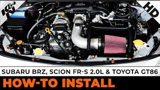 2013 Subaru BRZ / 2013 & 2014 Scion FR-S 2.0L / 2012 & 2013 2013 Toyota GT86 Air Intake Installation