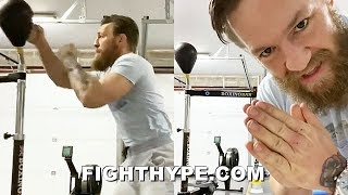 "CONOR MCGREGOR PERFECTING BOXING SKILLS & ""PINPOINTER"" PUNCHES; GOES BARE KNUCKLE ON BOXINGBAR"