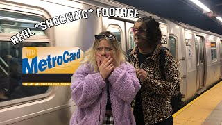 RICH KIDS FIRST TIME ON THE SUBWAY (NEW YORK CITY)