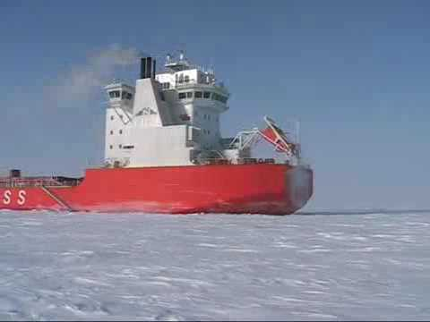 Ice trial of arctic containership NORILSKIY NICKEL. Part 2