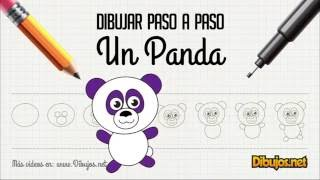 Como dibujar un Panda fácil