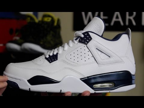 ff61d2a6af1 Air Jordan 4 Retro LS 'Columbia/ Legend Blue' 2015 - YouTube