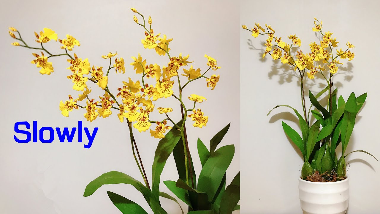 ABC TV | How To Make Oncidium Orchid Paper Flower | Flower Die Cuts (Slowly) - Craft Tutorial