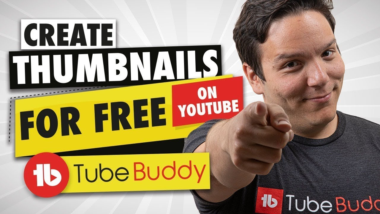 How to make a YouTube Custom thumbnail quickly and for FREE - TubeBuddy  Thumbnail Generator