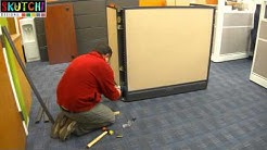 Office Call Center Cubicle Furniture Installation Process By SKUTCHI Designs, Inc.