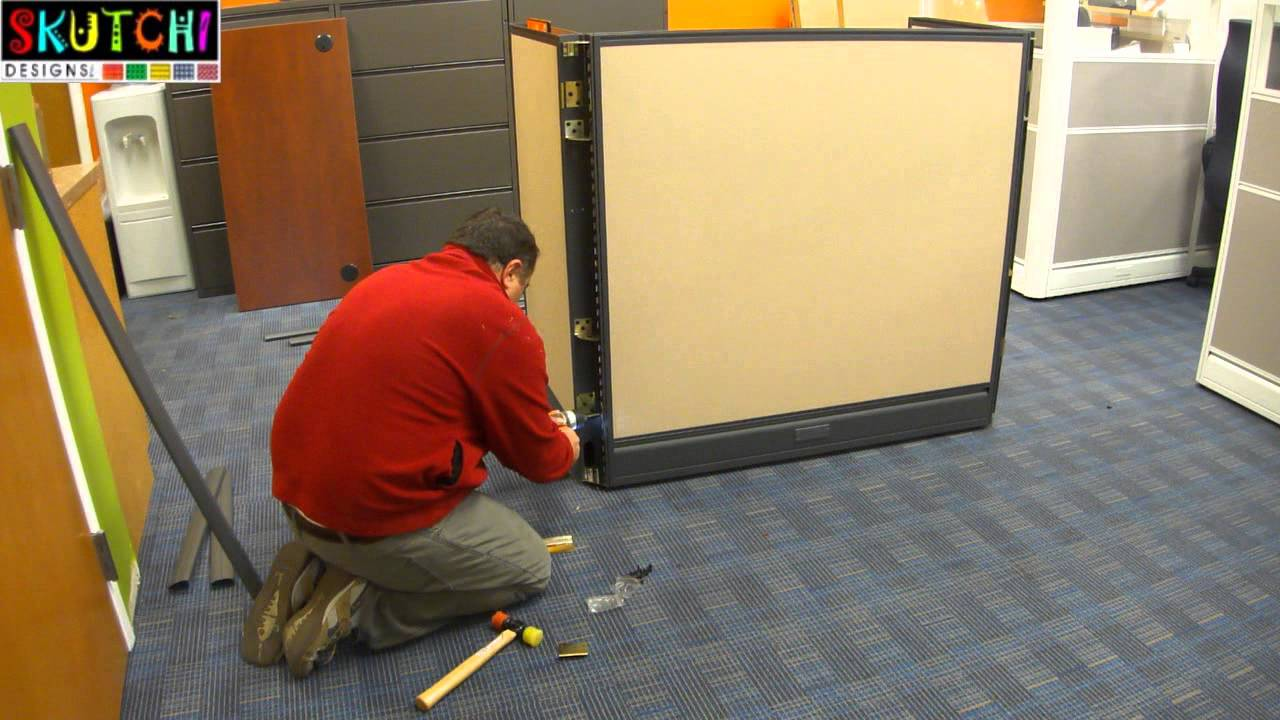 Office Call Center Cubicle Furniture Installation Process