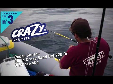 Pedro Santos com Crazy Sand Eel 220 Or - Offshore 60g