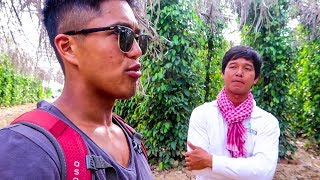 TREKKING IT OUT TO THE PEPPER FARMS OF KAMPOT!! (Southeast Asia Travel VLOG)