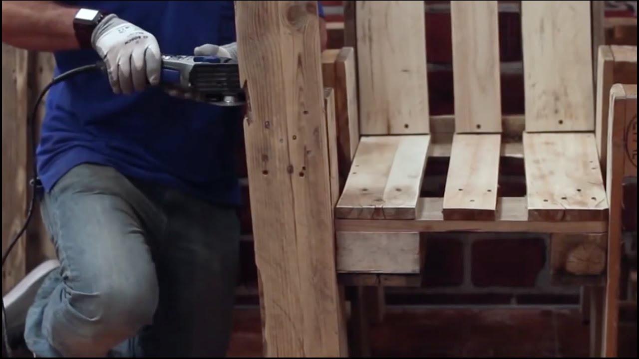 fabriquer un fauteuil a partir de palettes en bois recycle avec la dremel dsm20