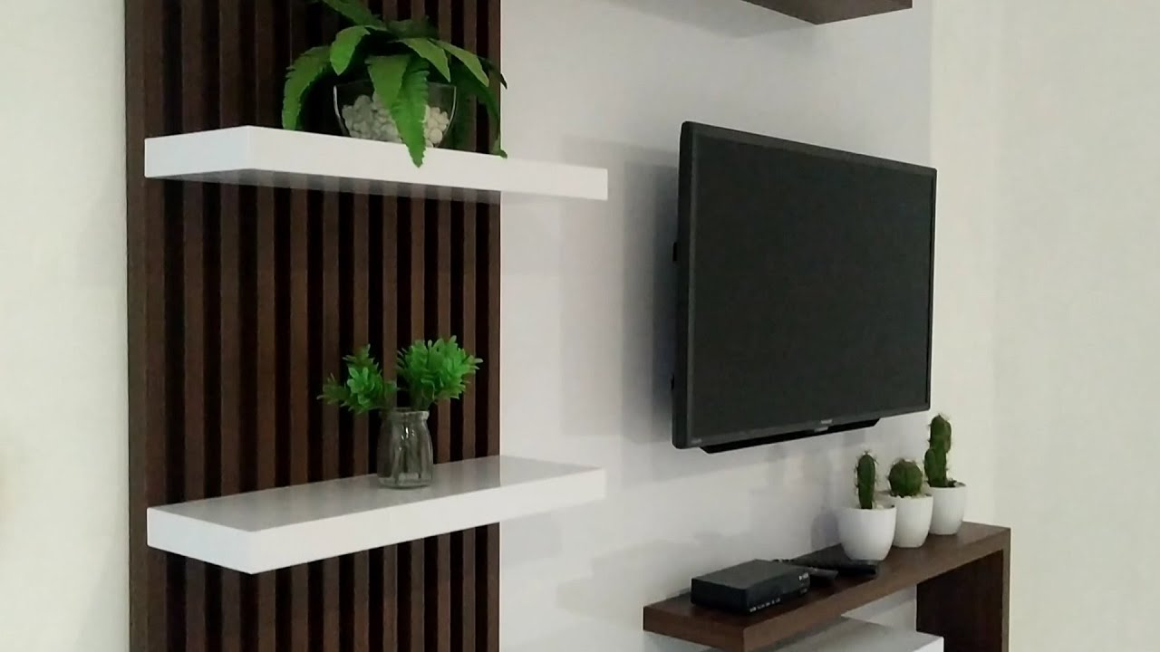 Rak TV Gantung Minimalis/Backdrop TV