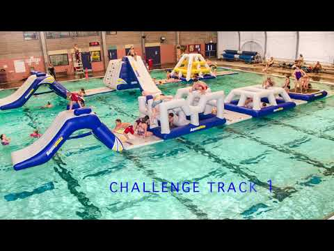 Obstacle course rental - Aquaglide Commercial Pool | Challenge Track 1