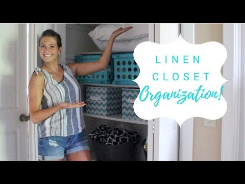 LINEN CLOSET ORGANIZATION 2018/ ORGANIZE AND DECLUTTER WITH ME 2018/ CLEANING MOTIVATION