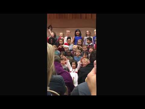 Jack singing at his first concert. At Thornhill Elementary School