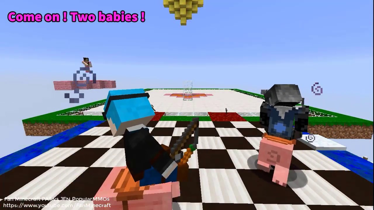 NEW PopularMMOs Pat And Jen Minecraft Devil Transforms Into Pat To Married Jen