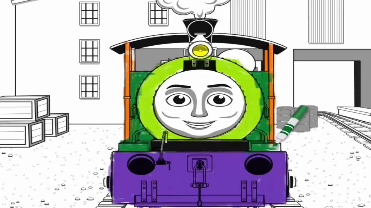 thomas and friends coloring pages for kids learning colors with