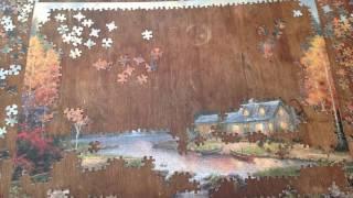 Evening at Autumn Lake: Thomas Kinkade Puzzle 1000 pieces
