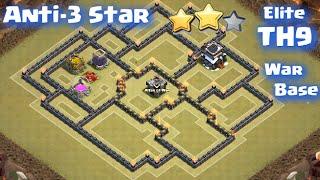 Clash of Clans - TownHall9 War Base (Elite Anti-3 Star TH9 War Base)