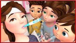 Sick Mommy Song +More Nursery Rhymes & Kids Songs | Most Viewed Video on YouTube | Banana Cartoon