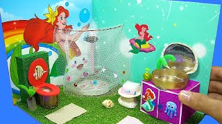 DIY Miniature Ariel Bathroom Room - Toilet Ariel Bathroom Ariel