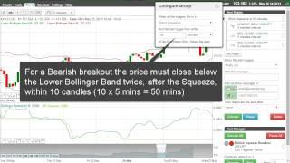 Bollinger band breakout trading system