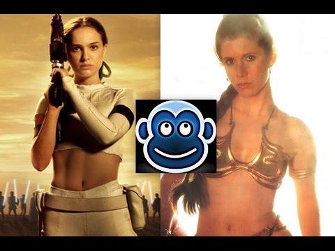 Natalie Portman VS Carrie Fisher...Who's The Sexiest? A Padme Amidala VS Princess Leia Sexy Battle!