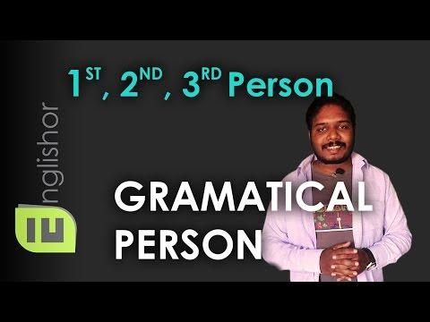 Grammatical Person (First Person, Second Person & Third Person) | English Grammar | Hindi