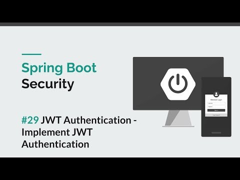Spring Boot Security] #29 JWT - Implement JWT Authentication - YouTube