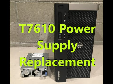 How to Replace a Precision T7610 1300W Power Supply
