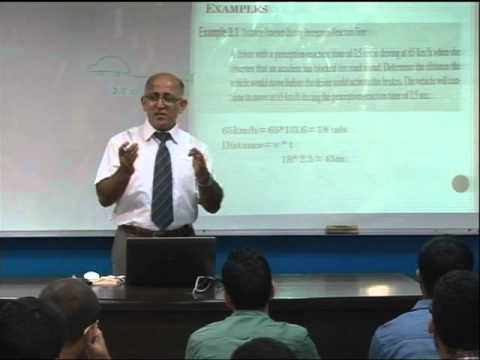 Lecture 17: Characteristics of Road Users 3