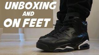 AIR JORDAN 6 BLACK CAT SNEAKERS UNBOXING FROM NIKE + ON FOOT + COMPARISON
