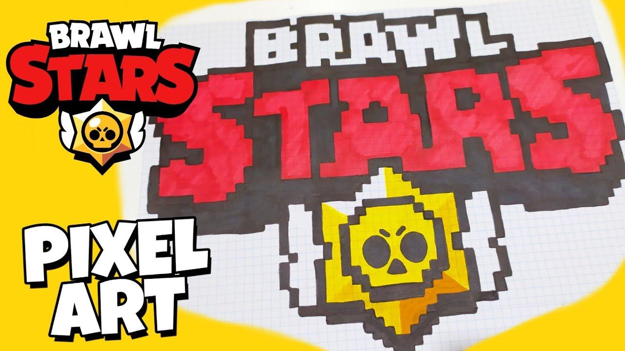 Brawl Stars ЛОГОТИП PIXEL ART // РИСУНКИ ПО КЛЕТОЧКАМ ЛОГОТИП Бравл Старс [ Muaz Creative ™]