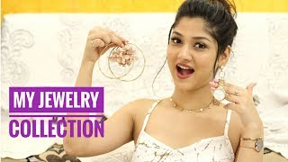 MY CURRENT JEWELRY COLLECTION | Dainty Necklaces earrings, classy watches | Manasi Mau