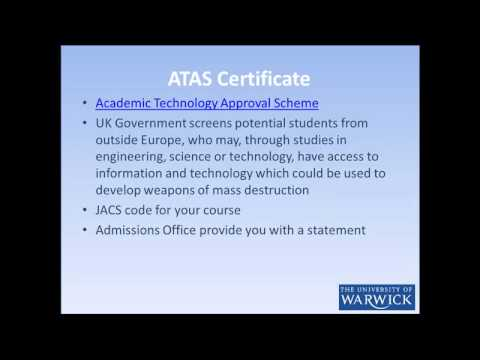 Applying from UK - Do I need an ATAS Certificate?