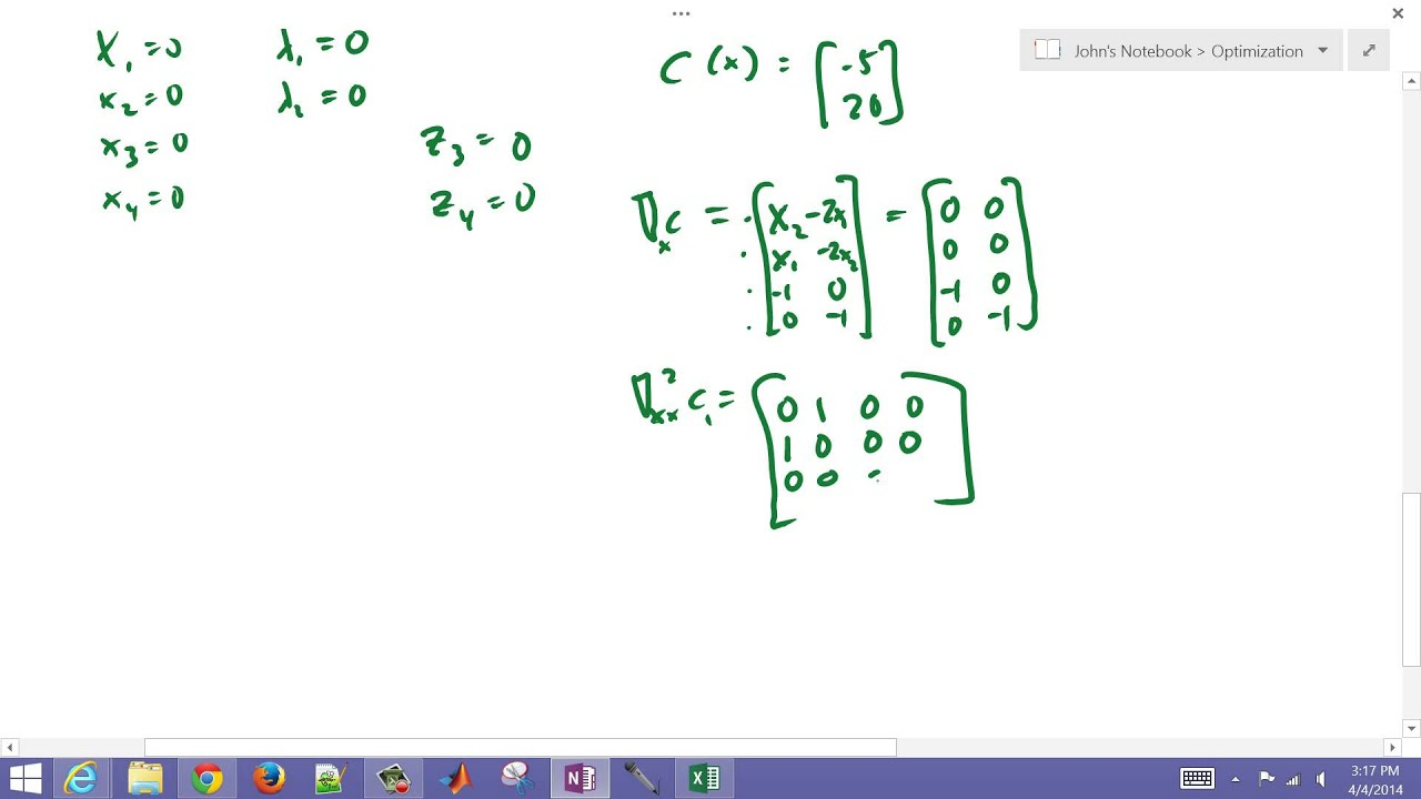 Interior Point Method Optimization Example In MATLAB