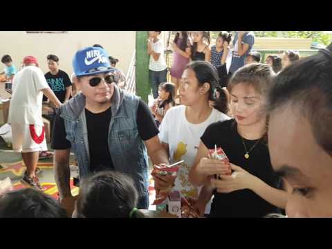 TYRONE ONEZA AND ARRAH AGUSTIN  AT DIEGO LLORICO BUBBLE GANG FEEDING PROGRAM
