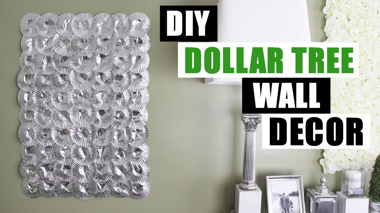 DIY DOLLAR TREE SILVER WALL DECOR DIY Home Decor Wall Art