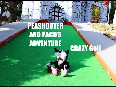 Plants vs. Zombies Plush: Peashooter and Paco's Adventure- CRAZY Golf