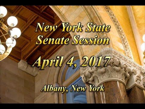 New York State Senate Session - 04/04/17