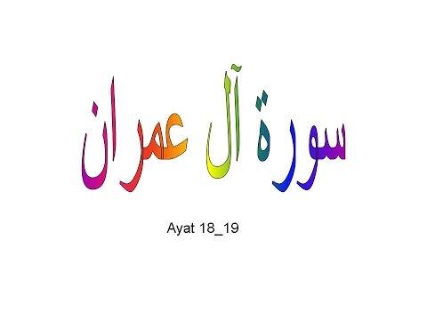 surah ali imran ayat 18 19