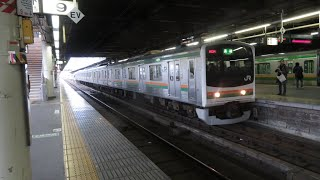 205系600番台Y5編成黒磯行き宇都宮駅発車シーン