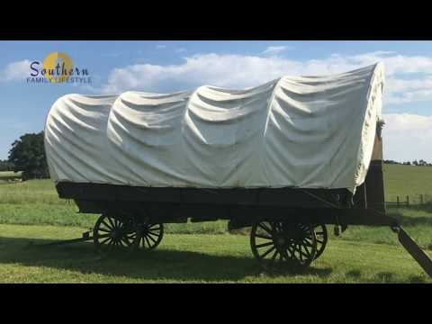 Conestoga Wagon Camping at The Rock Ranch