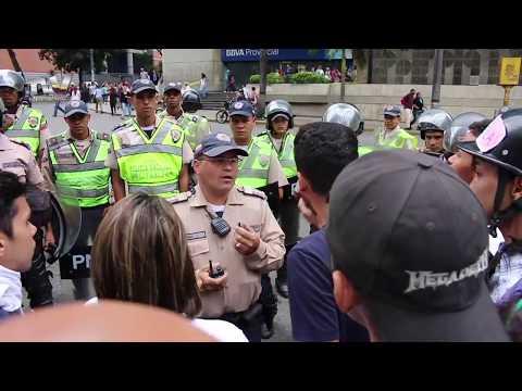 La oposición venezolana realizó un trancazo en Caracas